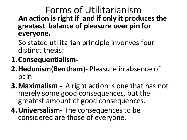 the main features of utilitarianism and issues that it deals with it But beyond this rejection of species bias, and the use of a theory of act utilitarianism that would treat animal interests seriously, singer's theory of animal liberation provides little normative guidance concerning issues of animal suffering and the killing of animals.