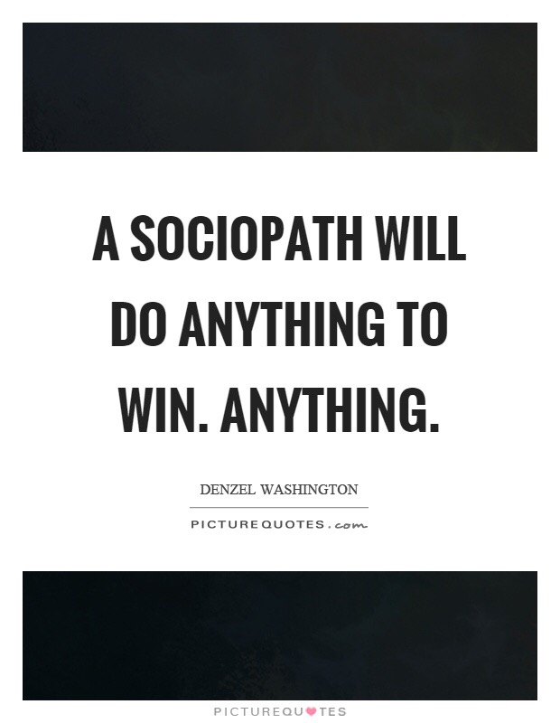 Sociopath dating another sociopath competitive