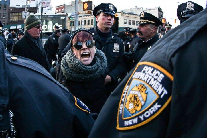 Anti Trump Demonstration in New York