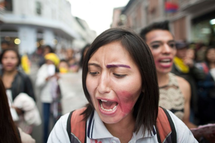 """Ni Una Menos"" demonstration against femicides in Quito"