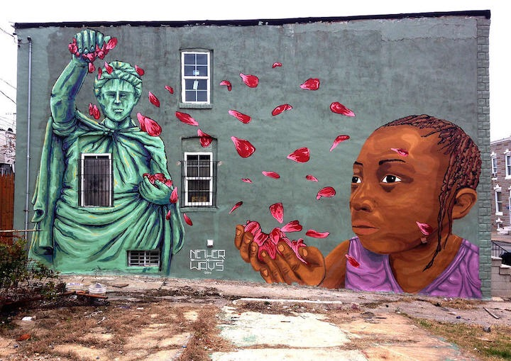 Activist art images social and political updated for Baltimore mural program